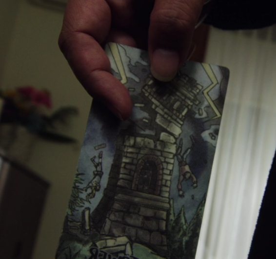 手塚がひいたカードは「塔」@龍騎2019