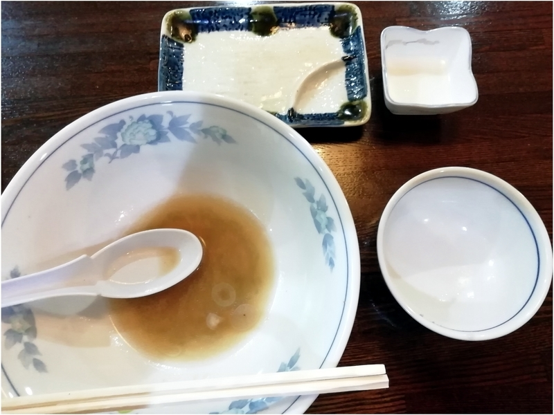 平野屋直伝 増やさんのチャーシューメン+餃子セットを完食。