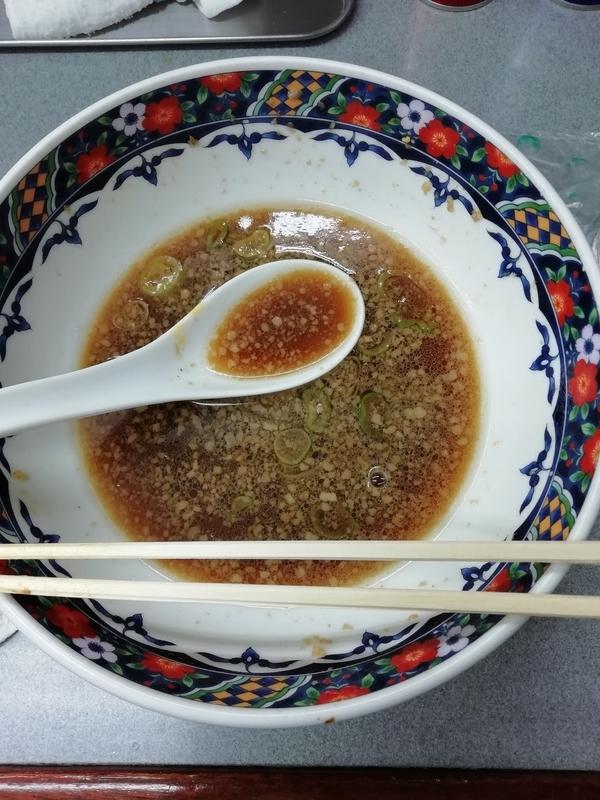 玉川大盛軒さんのしょうゆ拉麺を完食。