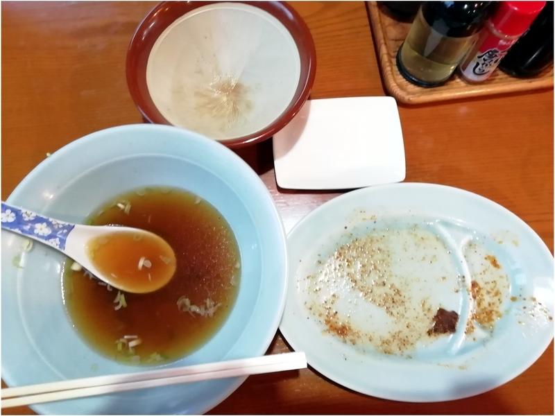 埼玉県行田市の丸信ラーメンさんのラーメンセットを完食。