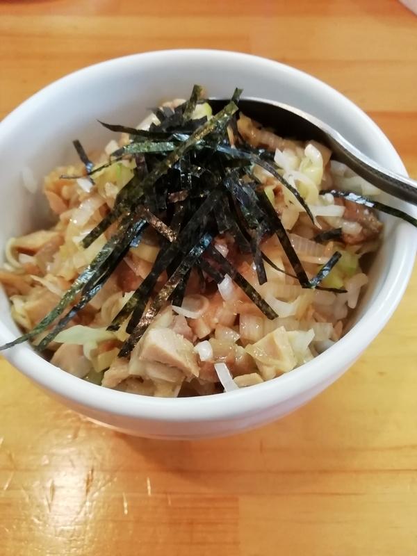 麺屋くおんさんのチャーシュー丼(小)240円