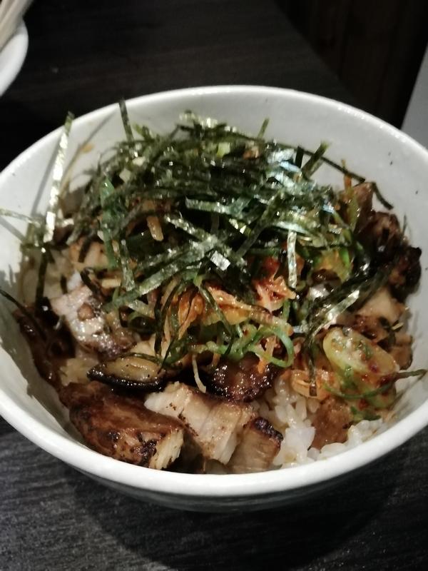 中華蕎麦 瑞山さんのあぶりちゃーしゅうご飯 280円