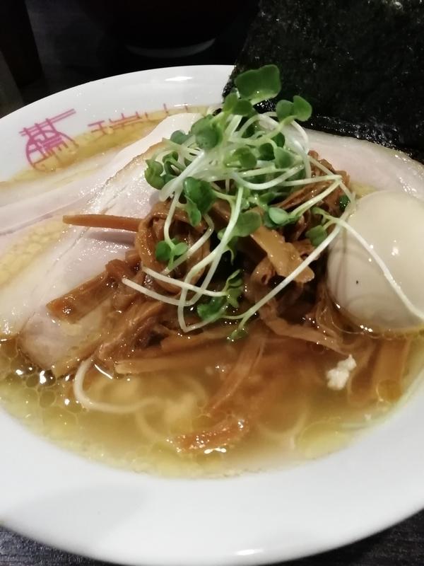 中華蕎麦 瑞山さんの特製しおそば+半ちゃーしゅう(ラーパスサービス) 960円