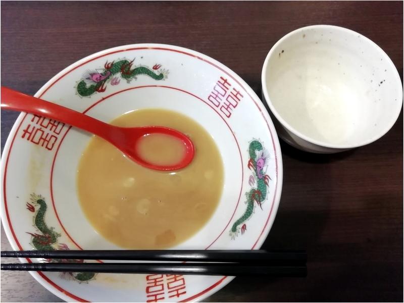 麺処むら井さんの味玉家系ラーメンとチャーシュー丼を完食。