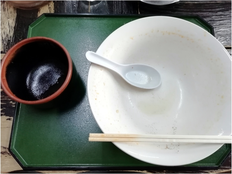 手打ちラーメン一力さんの担々麺とチャーシュー丼(小)を完飲・完食。