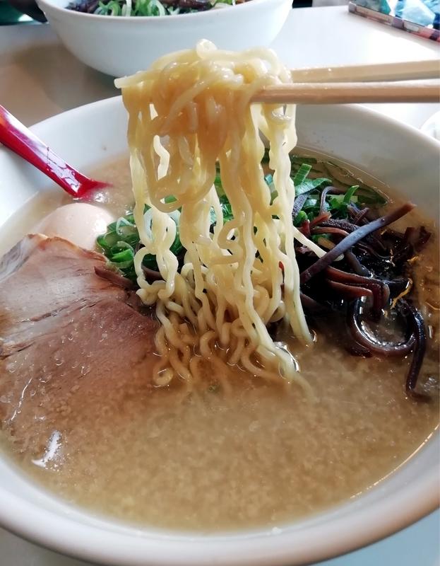 メロディー本店さんの東京とんこつらーめんの麺