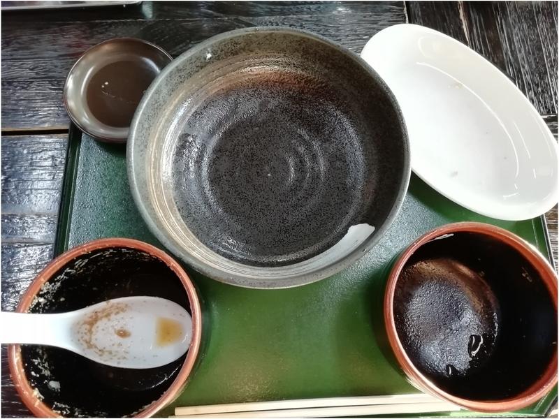 手打ちラーメン一力さんの冷やしつけ麺とチャーシュー丼 小を完食。