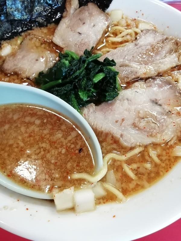 ラーメンショップ 福橋店さんの黒酢ラーメンのスープ
