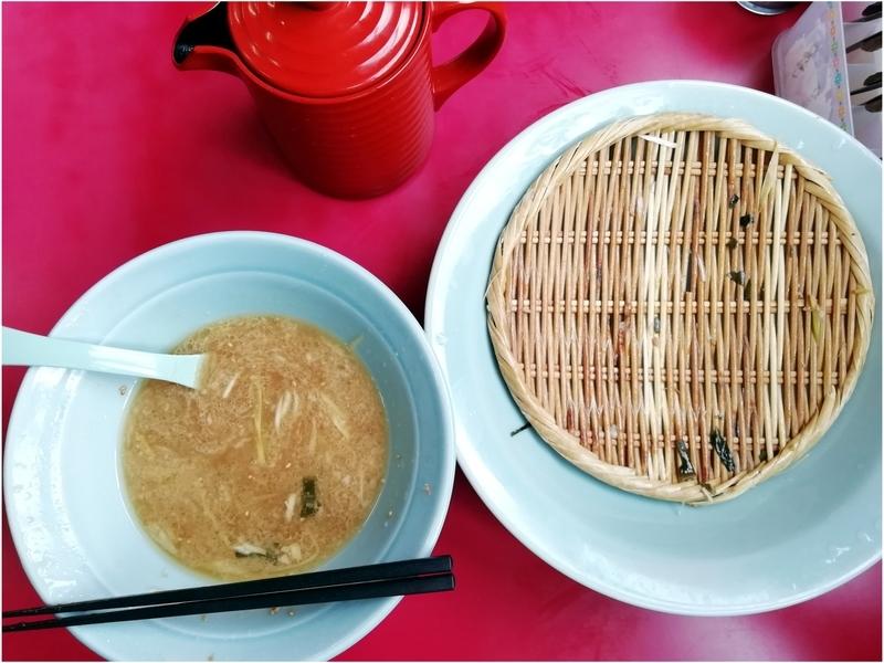 ラーメンショップ金田亭さんのネギつけ麺を完食。