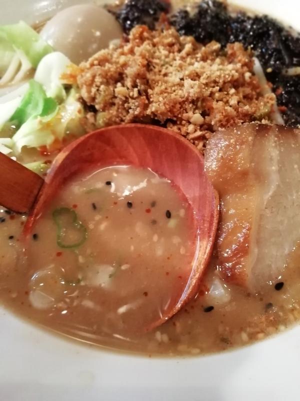 次世代黒みそ担々麺のスープ