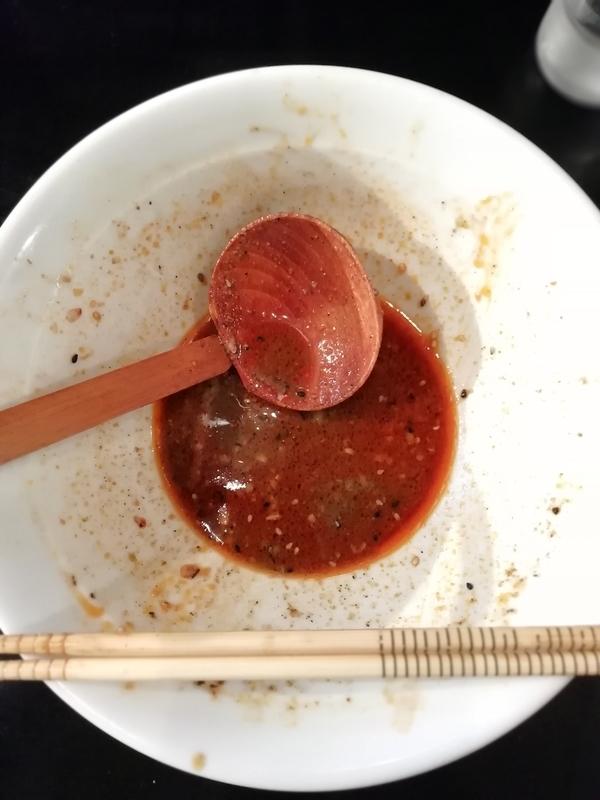 麺屋うえださんの次世代黒みそ担々麺を完食。