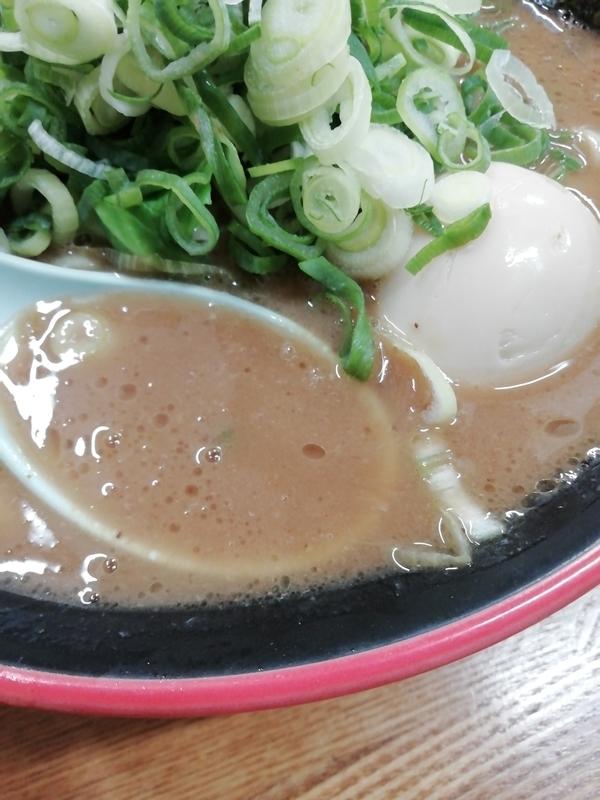 麺家 紫極さんの全部のせラーメンのスープ