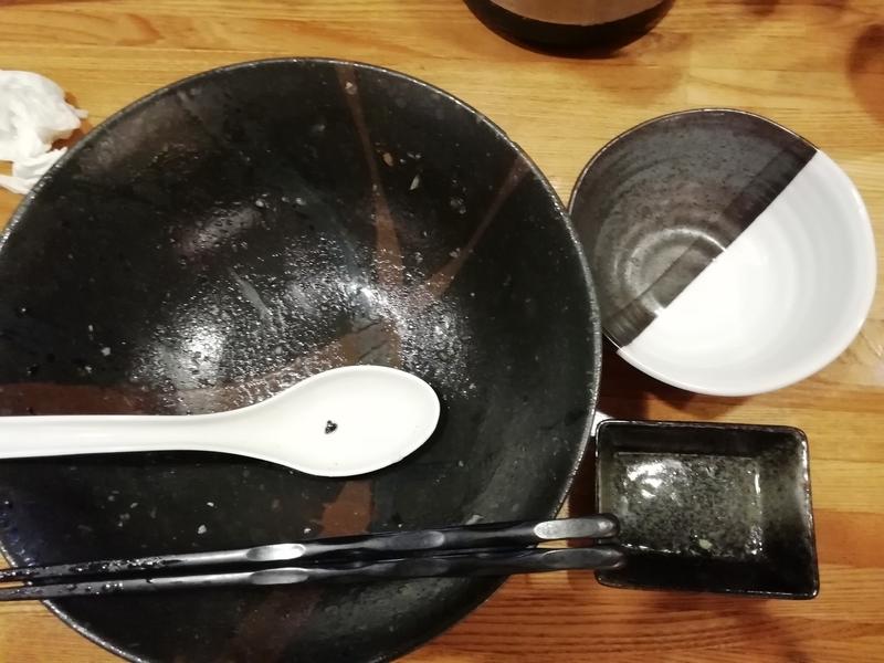 麺屋ひな多さんの上州地鶏と鰹のまぜそばを完食・完飲