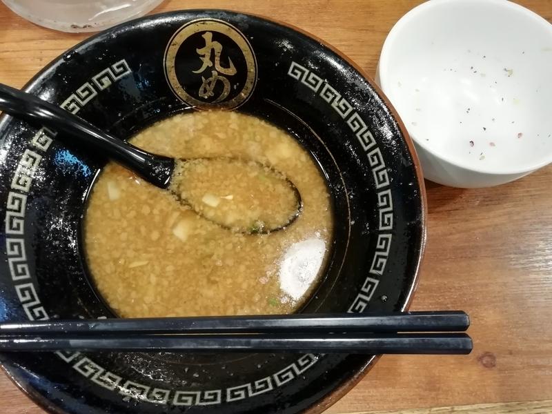 丸め@新所沢店さんの特製背脂煮干ラーメンを完食。
