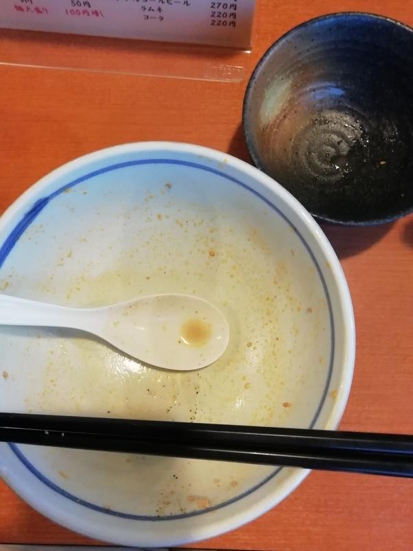 ふくのや加納店の味噌担々麺を完食・完飲
