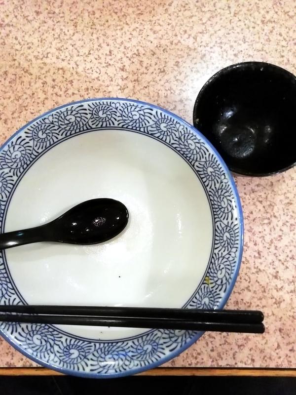 麺処かつ善さんの淡麗塩そばを完食・完飲。
