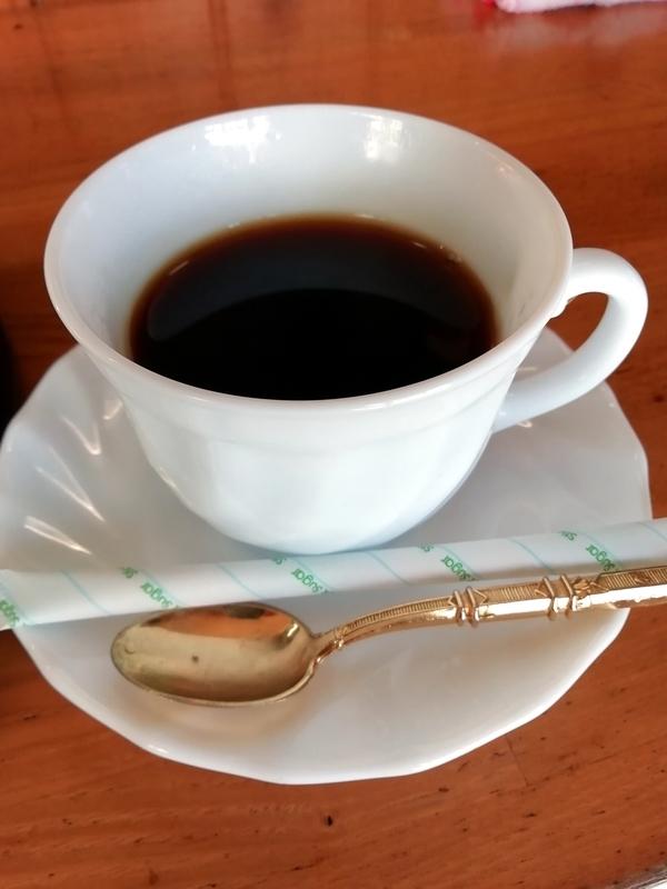 味のほうさくさんの食後のサービスコーヒー