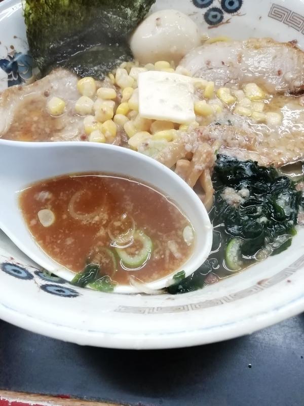 チャーシュー力Zさんのさそり固め正油のスープ