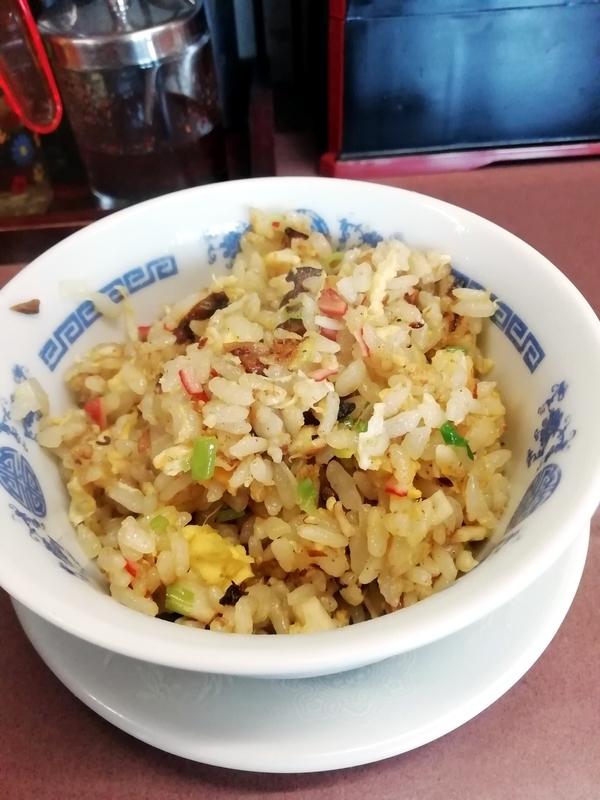 四華郷さんのランチメニューのミニ炒飯