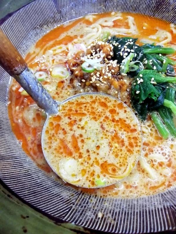 四華郷さんの担々麺のスープ