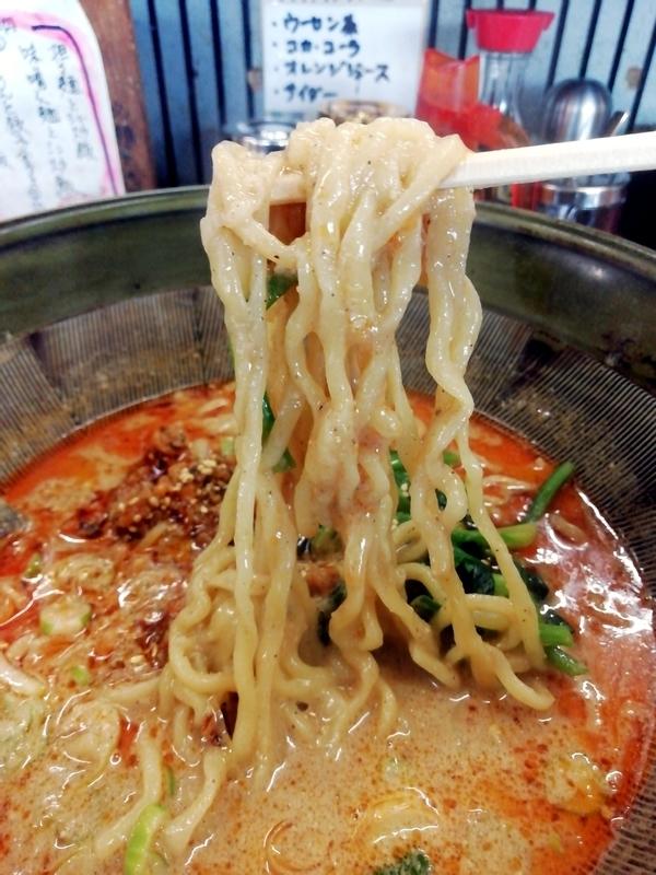 四華郷さんの担々麺の麺