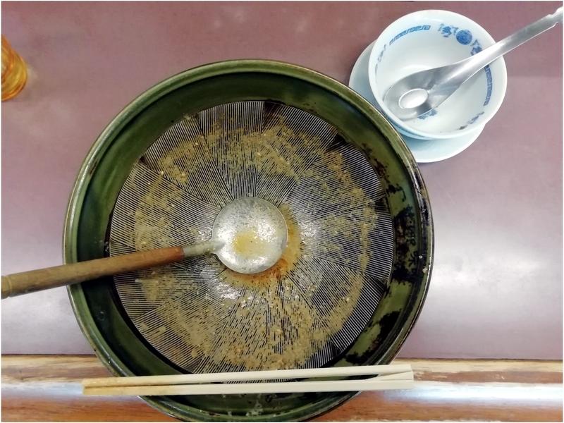 四華郷さんの担々麺とミニ炒飯を完食・完飲。
