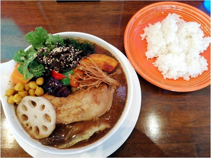 スープカリーおにっこさんのチキンと野菜のカリー 1230円(外税)