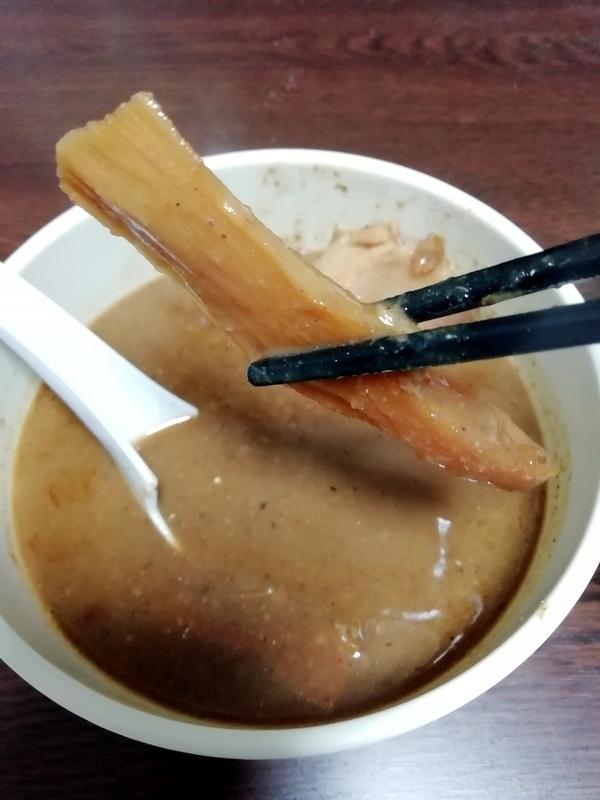 中華蕎麦 とみ田 つけそば@宅麺のメンマ