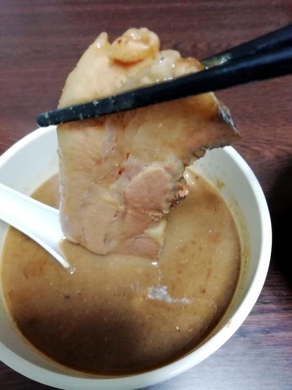 中華蕎麦 とみ田 つけそば@宅麺のチャーシュー