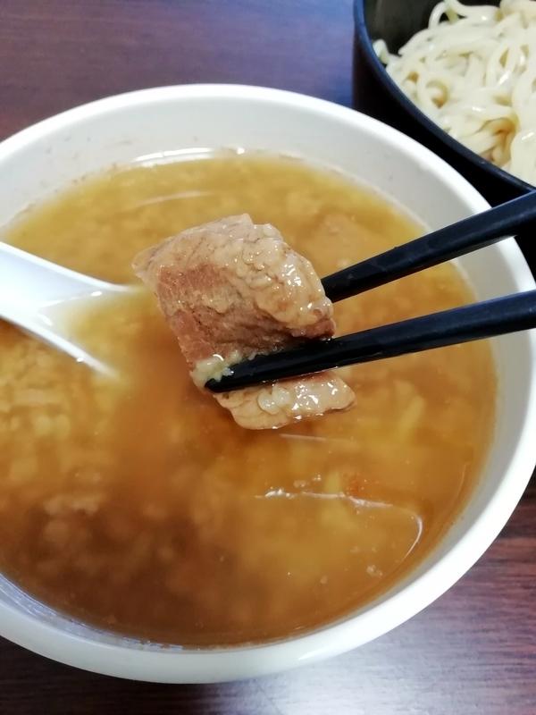 丸め 背脂煮干つけ麺@宅麺のチャーシュー