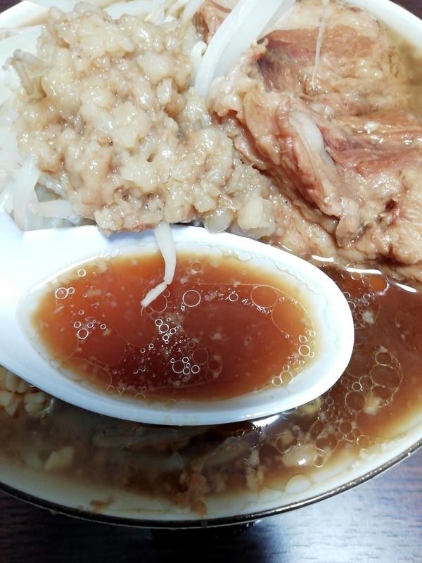 俺の生きる道 白山店 (旧夢を語れ東京) 夢のラーメン@宅麺のスープ