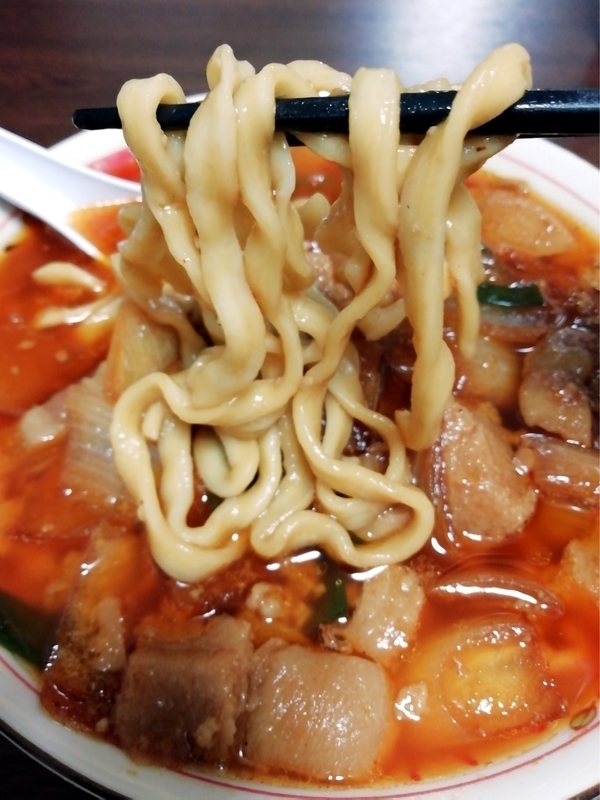 スタミナ満点らーめん すず鬼 スタ満ソバ@宅麺の麺