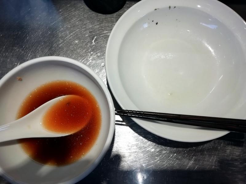 らあめん吟さんのつけ麺を完食。