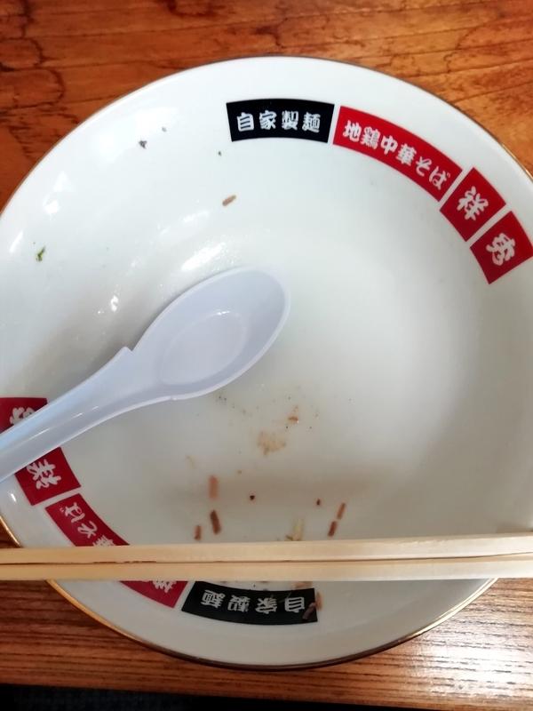 地鶏中華そば 祥秀さんのWチャーシュウメン(塩)を完食・完飲。