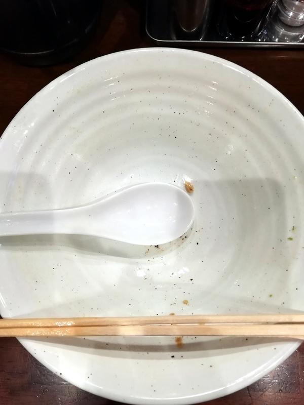 自家製多加水極太麺 ISAMIさんの辛口塩タンメンを完食・完飲