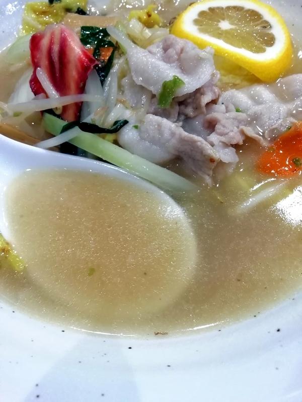自家製多加水極太麺 ISAMIさんの辛口塩タンメンのスープ