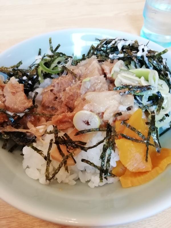 榮ラーメンさんのセットチャーシュー丼(小)