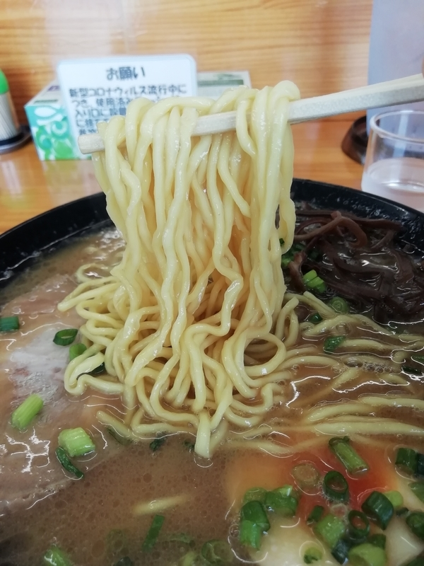 新井商店さんの中太麺