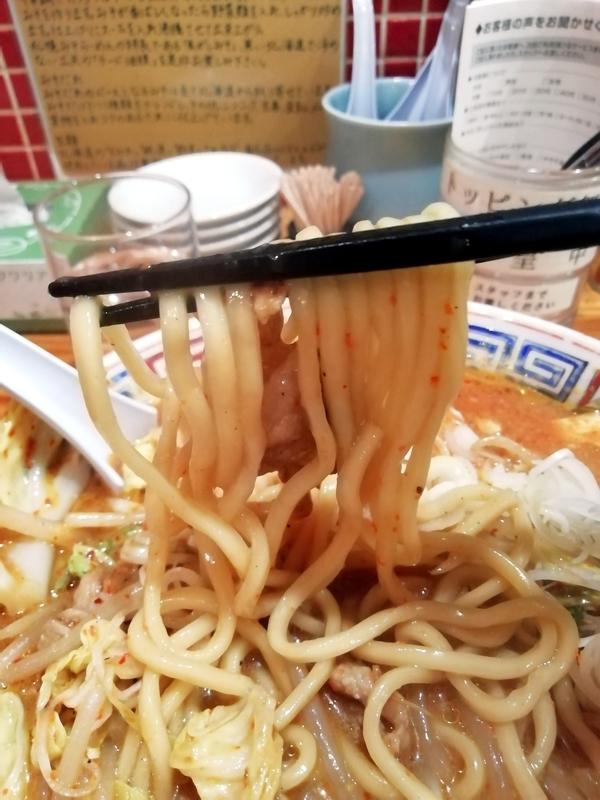 らーめん田中家さんのデビルメンの麺