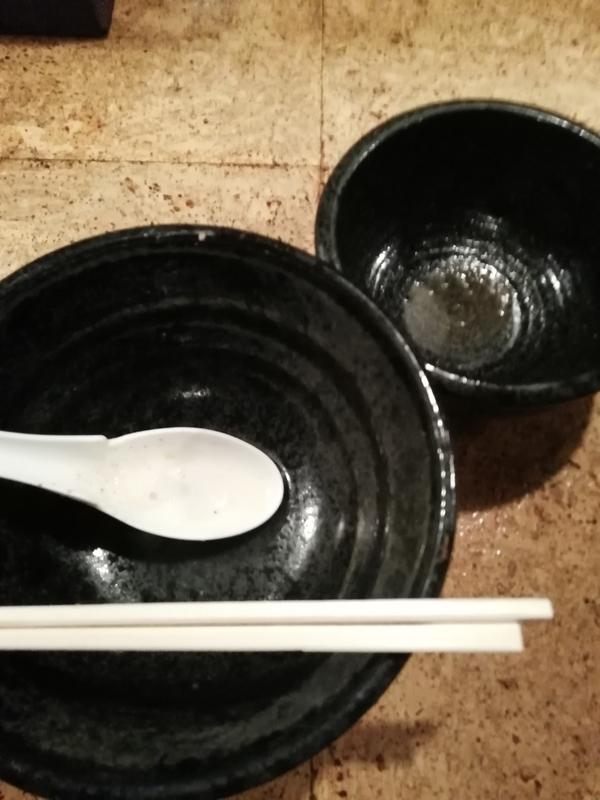 きくちひろきさんのつけ麺を完食・完飲。
