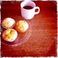 今朝ごはんは手作りマフィンと紅茶はフレンチブレイクファスト