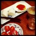 日曜晩酌はカマボコとミニトマト(´ー`)