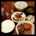 今夜はホタルイカ大根と蓮根花椒炒めと鮭マヨポテトと納豆みそ汁ごは