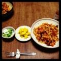 今夜はカブのマリネとカボチャサラダと茄子トマトパスタ(´¬`) なん