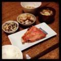 今夜は赤魚粕漬けと白菜ベーコンと花椒蓮根と冬瓜スープと納豆とごは