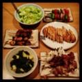 昨夜は焼き鳥祭りで若竹煮と塩キャベツとバゲットでいただきました(´