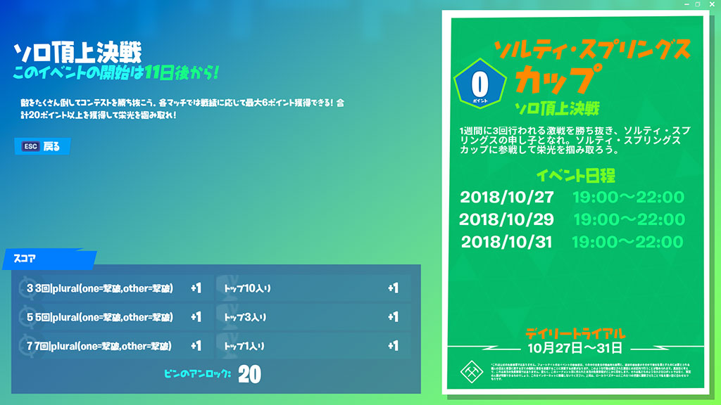ソルティ・スプリングスカップ(ソロ頂上決定戦)3