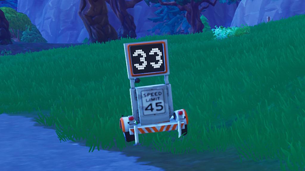 ウィーク5チャレンジ(シーズン6バトルパス)複数のレーダーサインで27よりも速いスピードを記録する