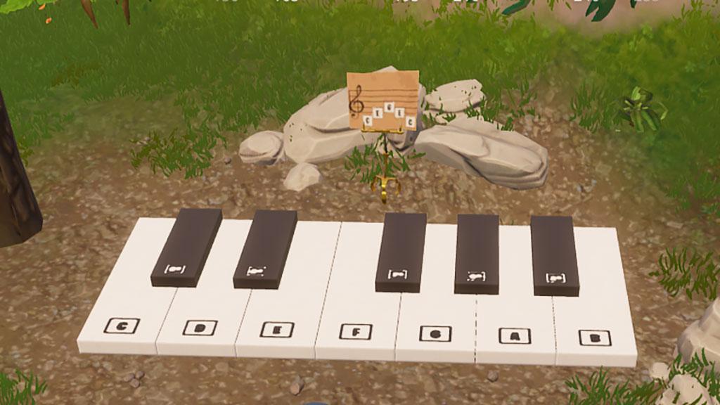 プレザント・パーク付近で楽譜を演奏する