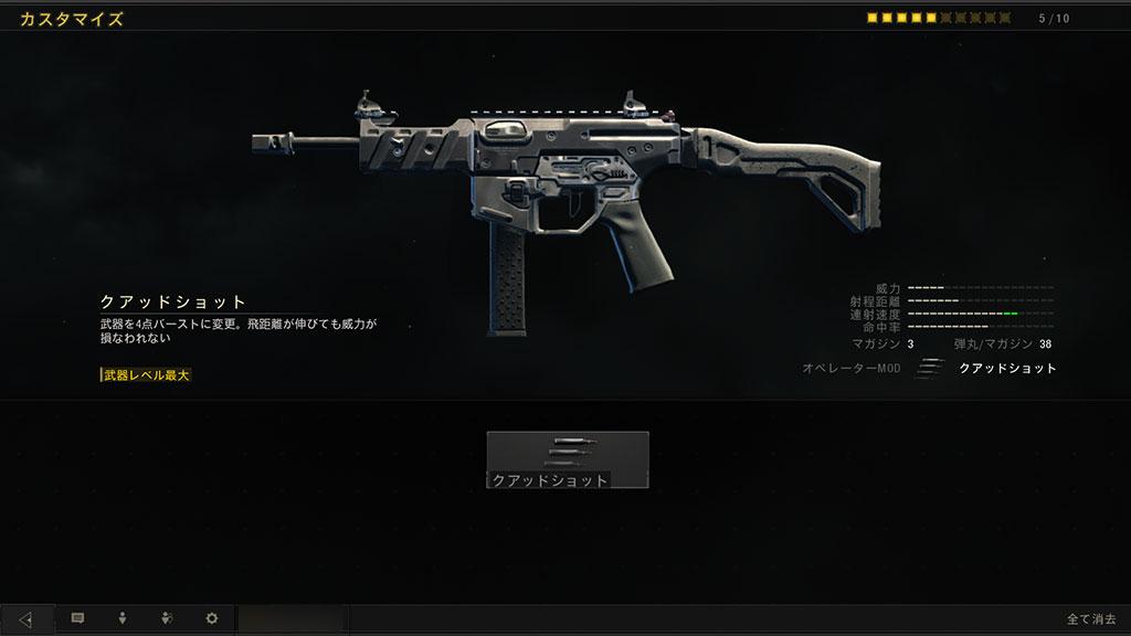 コール オブ デューティ ブラックオプス 4 GKS クアッドショット(オペレーターMOD)